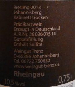 Rheingau Riesling Trenz