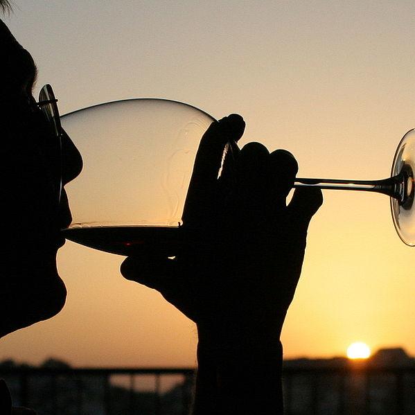 Wein Sonnenuntergang