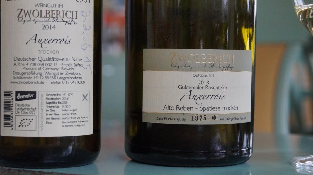 Auxerrois Weingut Zwölberich Demeter