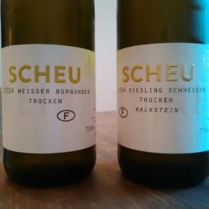 Weinhof Scheu: Weißburgunder, Riesling und eine unwichtige Grenze