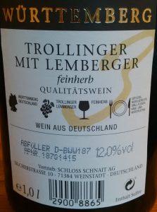 Trollinger mit Lemberger