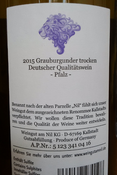 Weingut am Nil Kallstadt Grauburgunder