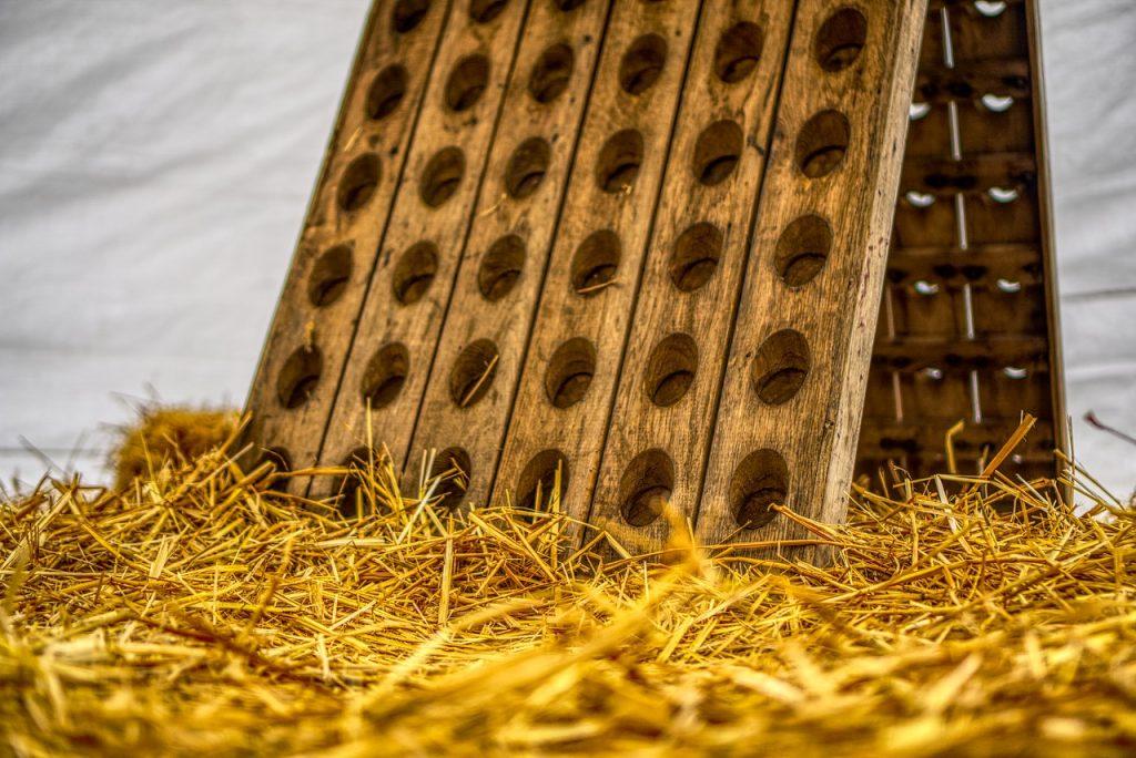 Weinständer Massivholz